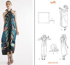 Robe dos nu | Playtime whit your Hermés-Carré