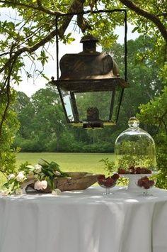 Al fresco - outdoor lighting Outdoor Rooms, Outdoor Dining, Outdoor Gardens, Outdoor Decor, Porches, Modern Garden Design, Transitional House, Al Fresco Dining, Candle Lanterns