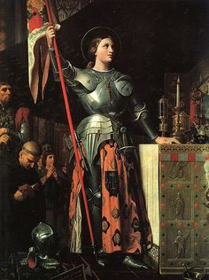 St. Joan of Arc by Ingres. More Catholic art from Ingres here … http://corjesusacratissimum.org/2011/03/ingres-and-catholic-france/