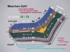 MPs Strick -Trixx: U-Socken-LEHRGANG in 12 Teilen - TIPPs und INFOs You are in the right place about knitting techniques edges Here we offer you the most beautiful pictures about the knitting techniqu Knitting Socks, Free Knitting, Baby Knitting, Knitting Patterns, Crochet Patterns, Start Knitting, Crochet Pullover Pattern, Learn How To Knit, Patterned Socks