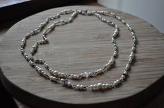 Elegant pearl and crystal necklace