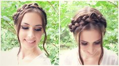 How to Crown Braid Hair Tutorial