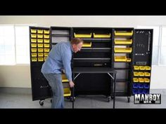 From ManBox USA this is a unique storage design that will forever revolutionize your garage. Whether you are a hobbiest or looking to create or add to your M...