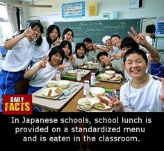 Daily Facts, Japanese School, School Lunch, Classroom, School Lunch Food, Class Room