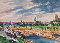 Čeněk Choděra - Praha od Zlíchova (1937)