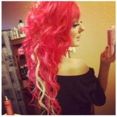 red hair blonde peekaboo highlight