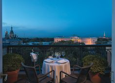 Enjoy a romantic dinner for two on your terrace at Belmond Grand Hotel Europe.