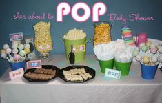 """Fun and Modern """"She's About to POP!"""" Baby shower."""