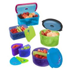 Fit & Fresh Kids Value Lunch Set, with Removable Ice Packs, 14 Piece Set