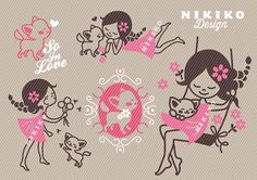 Plottervorlage Soulmate von NIKIKO Design auf DaWanda.com Silhouette Cameo, Hello Kitty, Minnie Mouse, Applique, Kids Rugs, Templates, Etsy, My Love, Disney Characters