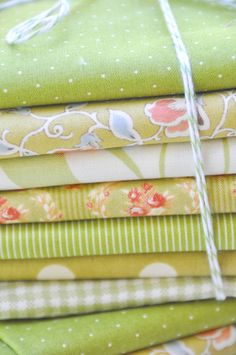 Fig Tree Quilts green fabric bundles