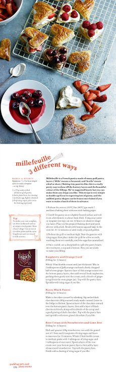 Treat someone special with these pretty little millefeuille from The Higgidy Cookbook