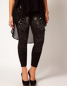Enlarge ASOS CURVE Leggings With Embellishment