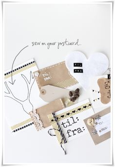 making cards with washi tape