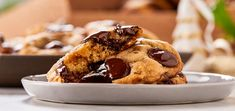 Classic Chocolate Chip Cookies Recipe, Chip Cookie Recipe, Double Chocolate Chip Cookies, Semi Sweet Chocolate Chips, Chocolate Recipes, Holiday Cookie Recipes, Holiday Desserts, Peanut Butter Thumbprint Cookies, Almond Cookies