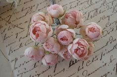 Vintage Shabby Pink Petite Millinery by VintageFrenchRibbons