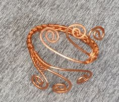 Copper 3 wire peacock bracelet