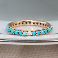 14kt gold diamond gemstone bezel ring – Luna Skye