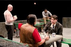 Ricardo Gutierrez, Raul Castillo, Mike Cherry, and Cedric Mays in 'Fish Men' - Teatro Vista in partnership with the Goodman Theatre, April/May 2012