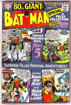 Batman 185 comic, Robin, 80 Page Giant book, Silver Age, Vintage art. 1966 DC Comics in FVF Batman Book, Batman Comic Books, Batman Comics, Batman And Superman, Comic Books Art, Comic Art, Batman 1966, Batman Robin, Robin Comics
