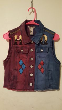 Hey, I found this really awesome Etsy listing at https://www.etsy.com/listing/266961350/suicide-squad-harley-quinn-vest