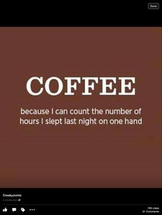 More Coffee, please!