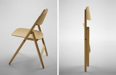 """Hiroshima Folding Chair Selected for """"Japanese Design Today Wooden Folding Chairs, Folding Furniture, Bar Chairs, Table And Chairs, Drawing Interior, Hiroshima, Japanese Design, Table Desk, Chair Design"""