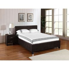 Studio Lift Upholstered Platform Bed - Brown -- $558 for a King on this BedroomFurnitureMart.com site.