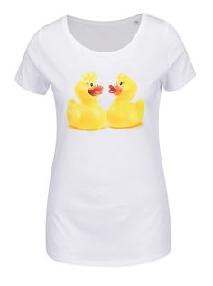 Biele dámske tričko s potlačou kačičiek Cuky Luky film