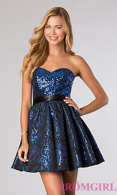 Short Strapless Sweetheart Dress at PromGirl.com only $69.00