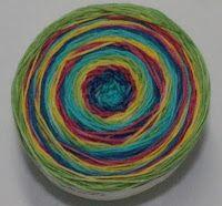 The Yarn Fairy from holidayyarns.com makes self-striping yarn!