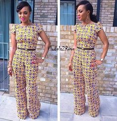 Jumpsuit with African prints
