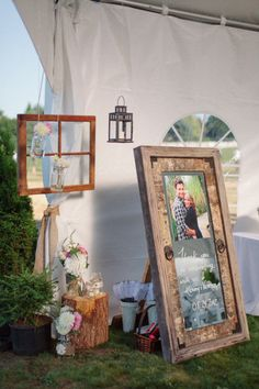 pretty backyard wedding