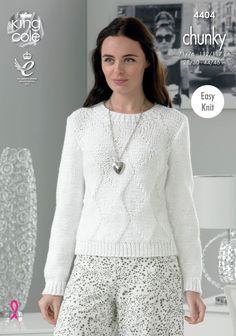 8c18ec41b0015f Sweater and Cardigan Knitted with Glitz Chunky - King Cole Chunky Knitting  Patterns