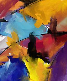 Abstract 1412 - Digital Arts ©2015 par Patric Mouth -  Arts numériques, Peinture numérique, Art abstrait, Autre, Art abstrait, peinture abstrait numérique