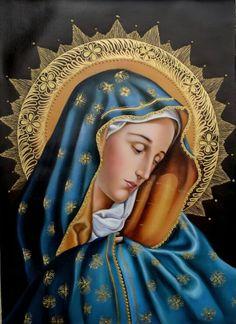 #beholdyourMother #Jesussaidit #bible #Queenoftheuniverse #rosary #faith #Mary #Queenofangels Hail Holy Queen, Hail Mary, Blessed Mother Mary, Blessed Virgin Mary, Divine Mother, Spiritual Paintings, Catholic Saints, Catholic Art, Religious Art