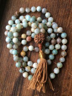 NOUVEAU 10 Mm Naturel Saphir Bleu Pierres Précieuses 108 Tassel prière perles Mala Collier