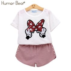 Humor Bear Baby Girls Clothes Kids Set Fashion Bow Short Sleeve T-Shirt +Pant Baby Girls Clothing Set Kids Cartoon Clothes Set – fashion style 2018 Cartoon Outfits, Disney Outfits, Disney Clothes Kids, Winter Baby Clothes, Baby Winter, Funny Fashion, Kids Fashion, Little Girl Outfits, Kids Outfits