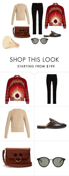 """""""Sin título #11205"""" by ceciliaamuedo ❤ liked on Polyvore featuring Valentino, Frame, The Row, Gucci, J.W. Anderson, Yves Saint Laurent and Aurélie Bidermann"""