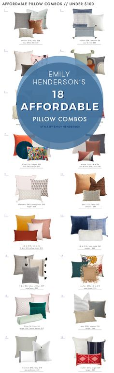 Pillow Combos Under $100... yes a total of $100!