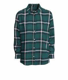 Teal Grey Flannel Shirt | H&M US