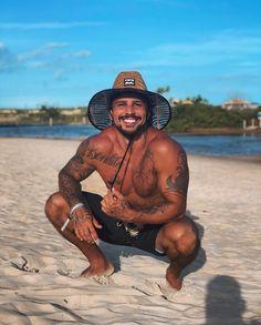 Hot Guys Tattoos, Beach Photography Poses, Tummy Control Swimsuit, Men Beach, Monokini Swimsuits, Beautiful Men Faces, Man Swimming, Hair And Beard Styles, Bearded Men