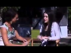 ET Canada's Erin Cebula interviews Georgie Henley and other cast members on the set - September 2011