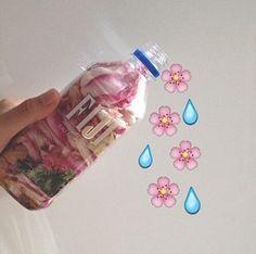 fiji, flowers, and water image Aesthetic Grunge, Pink Aesthetic, Water Aesthetic, Emoji Tumblr, Foto Snap, Fiji Water Bottle, Water Water, Vaporwave, Girly Things
