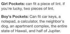 Girls vs. Guys pockets
