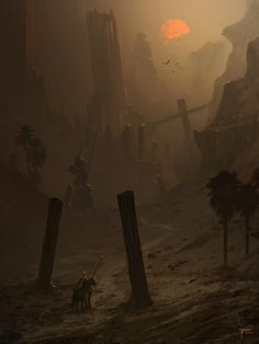 Explore the Fantasy Environment collection - the favourite images chosen by Kin-Kazma on DeviantArt. Dark Fantasy, Fantasy Concept Art, Fantasy Art, Landscape Concept, Fantasy Landscape, Environment Concept Art, Environment Design, Desert Environment, Fantasy Places