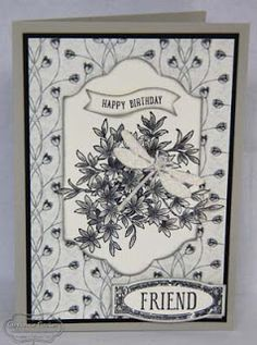 Stampin' Up!, Awesomely Artistic, Timeless Elegance, monochrome