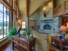 Interior of luxury home in Marion, Montana