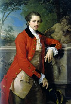 Portrait of Edmund Rolfe, by Pompeo Batoni, 1761. Private Collection