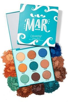 Colourpop Mar Teal and Bronze 9 pan Pressed Powder Shadow Palette Colourpop Eyeshadow Palette, Bronze Eyeshadow, Eyeshadows, Mac Lipsticks, Makeup Brands, Best Makeup Products, Beauty Products, Makeup Pallets, Makeup Products